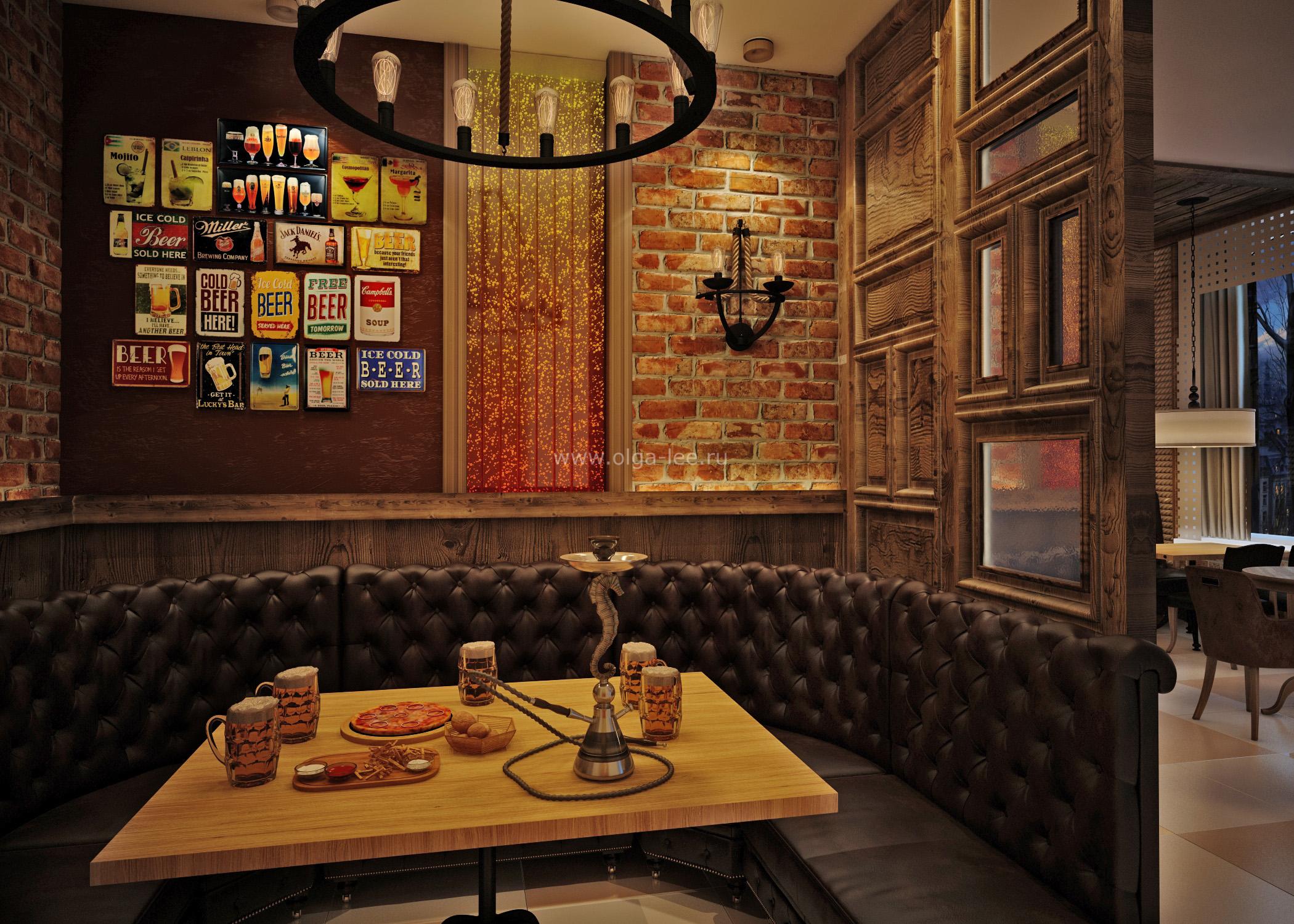 Фото дизайна интерьера пивного бара