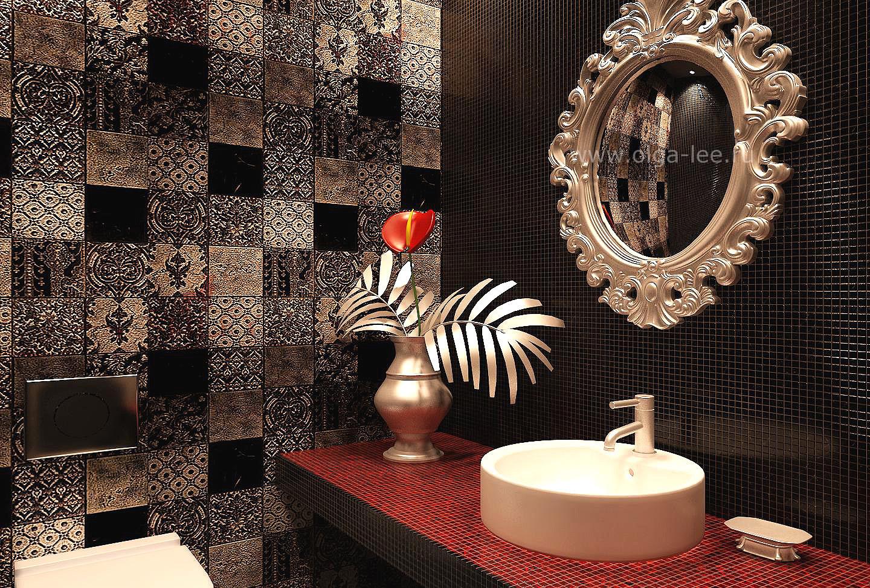 Дизайн ванной арт деко